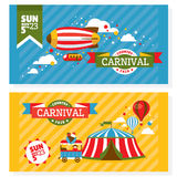 Country fair vintage invitation cards Stock Images