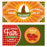Country fair vintage invitation cards Royalty Free Stock Photo