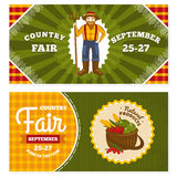 Country fair vintage invitation cards. Vector illustration stock illustration