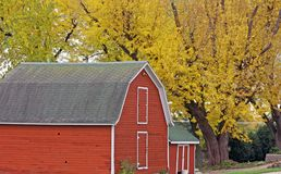 Country farm with fall colors Royalty Free Stock Images
