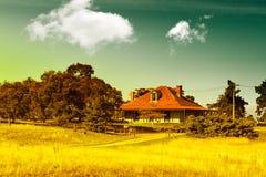 Country farm house. Rural cottage on a country farm property, Tasmania, Australia Royalty Free Stock Photos