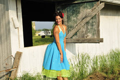 Country farm pin up girl Stock Image