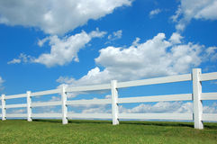 Country Fence ald Clouds Stock Images