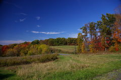 Country field in the Fall. Pennsylvania has many beautiful country side scenes in the fall royalty free stock photo