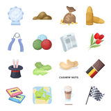 Country, finance, nature and other web icon in cartoon style.Sport, food, service icons in set collection. Stock Photography