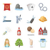 Country, finance, nature and other web icon in cartoon style.Sport, food, service icons in set collection. Stock Photo