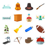 Country, finance, nature and other web icon in cartoon style.Sport, food, service icons in set collection. Country, finance, nature and other  icon in cartoon Royalty Free Stock Photos