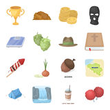 Country, finance, nature and other web icon in cartoon style.Sport, food, service icons in set collection. Royalty Free Stock Photos