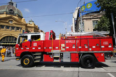 Country Fire Authority truck during Australia Day Parade in Melbourne Stock Photography