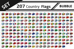 207 country flag bubble Stock Photography