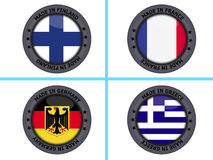 Country flag buttons Stock Photography