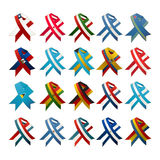 Country flag ribbons Royalty Free Stock Image