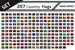 207 country flag wind effect Stock Image