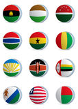 Country flags-africa2 Stock Photography