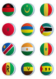 Country flags-africa3 Royalty Free Stock Photography