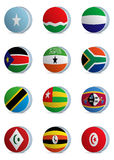Country flags-africa4 Stock Images