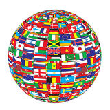 Country flags on ball Stock Photos