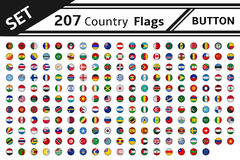 207 country flags button. Set 207 country flags button Royalty Free Stock Image