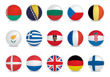 Country flags-EUROPE Royalty Free Stock Photos