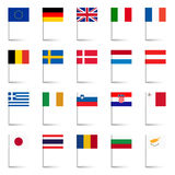 Country Flags - Pins Set 02 Stock Photo