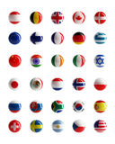 Country flags web buttons Stock Photo