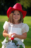 Country Flower Girl Royalty Free Stock Image