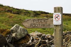 A Country Footpath Sign Stock Photo