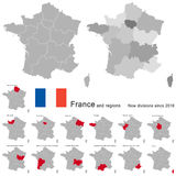 Country France and regions since 2016 Stock Photos