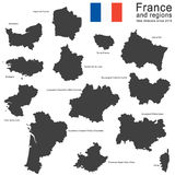 Country France and regions since 2016 Royalty Free Stock Photo
