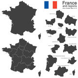 Country France and regions since 2016. Silhouettes of country France and new regions since 2016 Royalty Free Stock Image