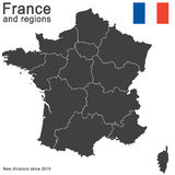 Country France and regions since 2016 Royalty Free Stock Photos