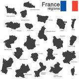 Country France silhouette Royalty Free Stock Photos