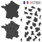 Country France silhouette. Silhouettes of country France and the regions Stock Image