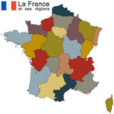 Country France silhouette. Silhouettes of country France and the regions Stock Photo