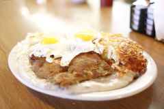 Country fried steak and eggs Stock Image