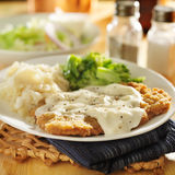 Country fried steak meal Royalty Free Stock Image