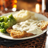 Country fried steak Stock Photography
