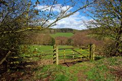 Country gate Royalty Free Stock Photography