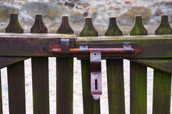 Country gate lock Royalty Free Stock Photo