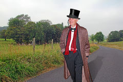 Country gent walking home Royalty Free Stock Photos