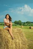 Country girl Royalty Free Stock Image
