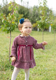 Country girl in the garden Stock Photography