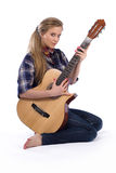 Country-girl with guitar Stock Photos