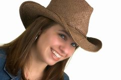 Country Girl Isolated, Stock Images