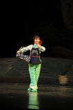 The country girl- Jiangxi opera a steelyard Royalty Free Stock Photos