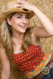 Country Girl Laughing Royalty Free Stock Photos