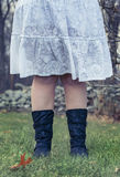 Country girl legs in boots Stock Images