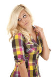 Country girl look back Stock Images