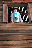 Country Girl Playing Dress-up Royalty Free Stock Photos
