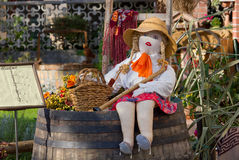 Country Girl Rag Doll Royalty Free Stock Photo